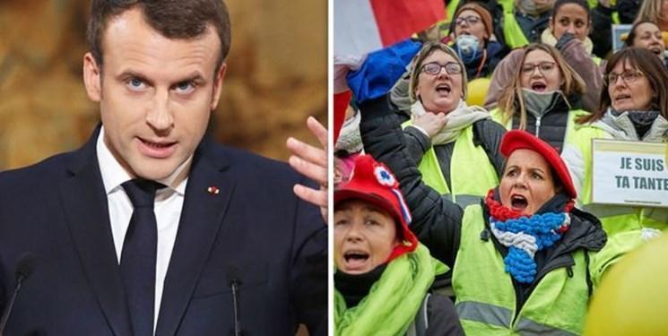 با وجود وعده اصلاح مالیاتی ماکرون، اعتراضات فرانسه وارد هفته 24 شد