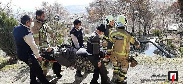 سقوط یک دختر به دره در ارتفاعات تهران